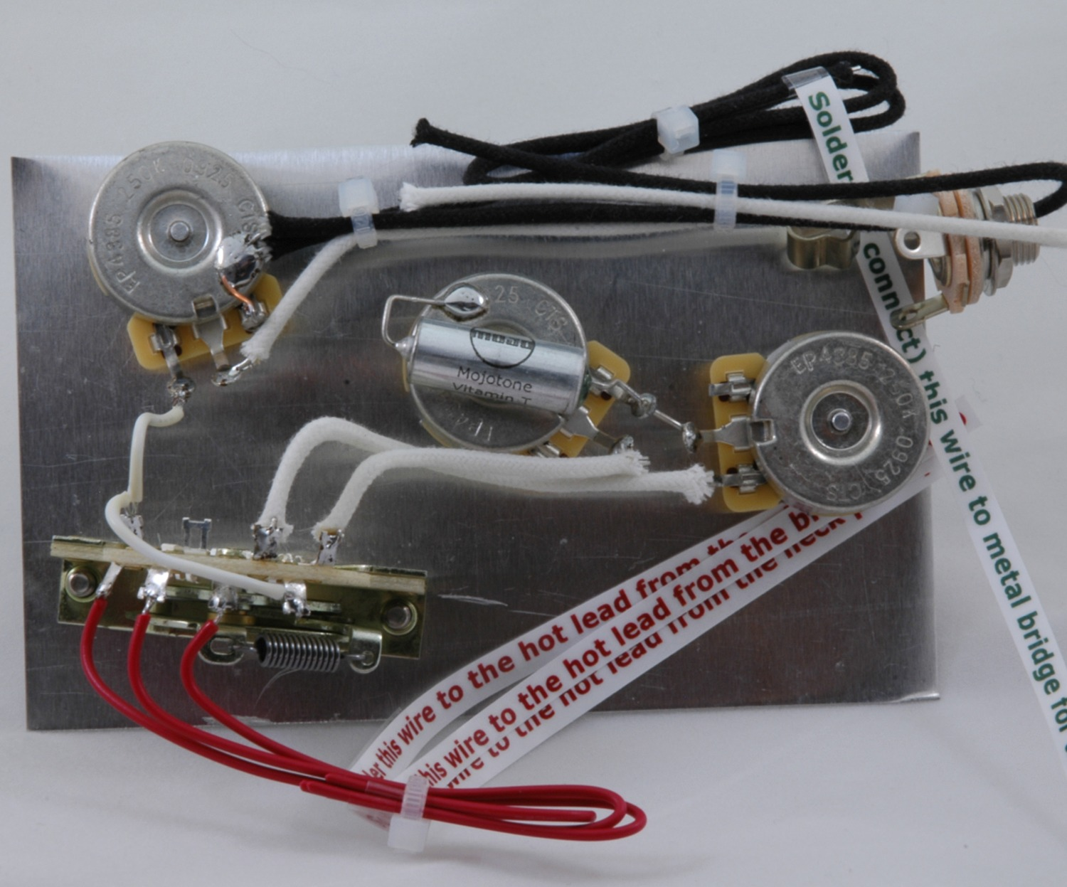 Stevie Ray Vaughan Model Stratocaster Wiring Harness Hoagland Custom Gets Hot
