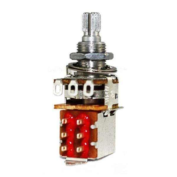 500k Alpha Pot, Audio Taper, Push/Pull, Short, Split Shaft