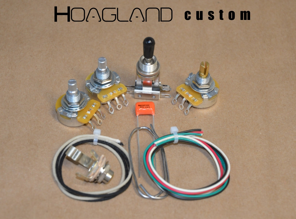 Flying V Style Wiring Harness Kit Matched Short Shaft Pots Wire