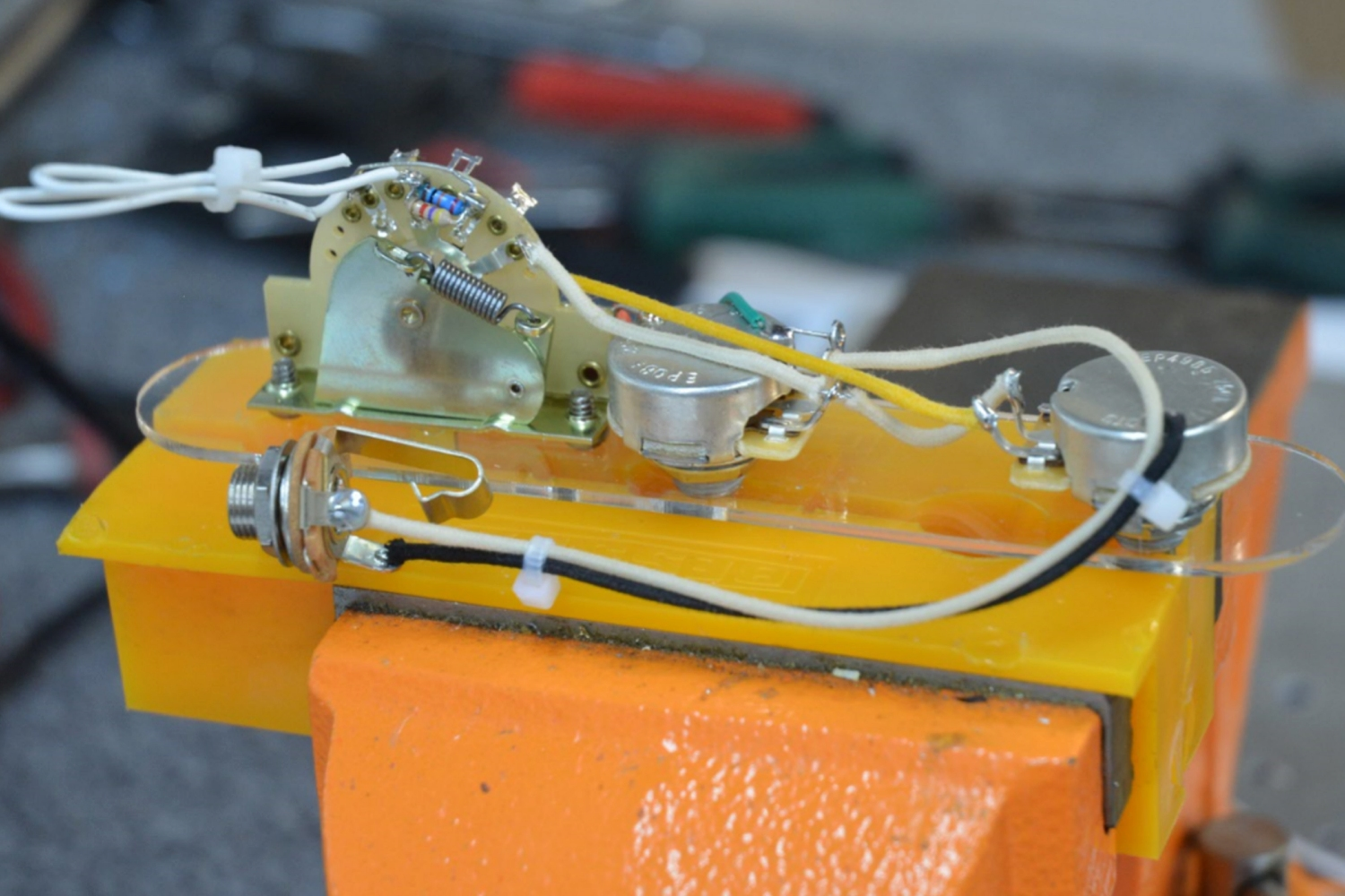 Broadcaster With Blend Tele Style Wiring Harness Hoagland Custom Mojo