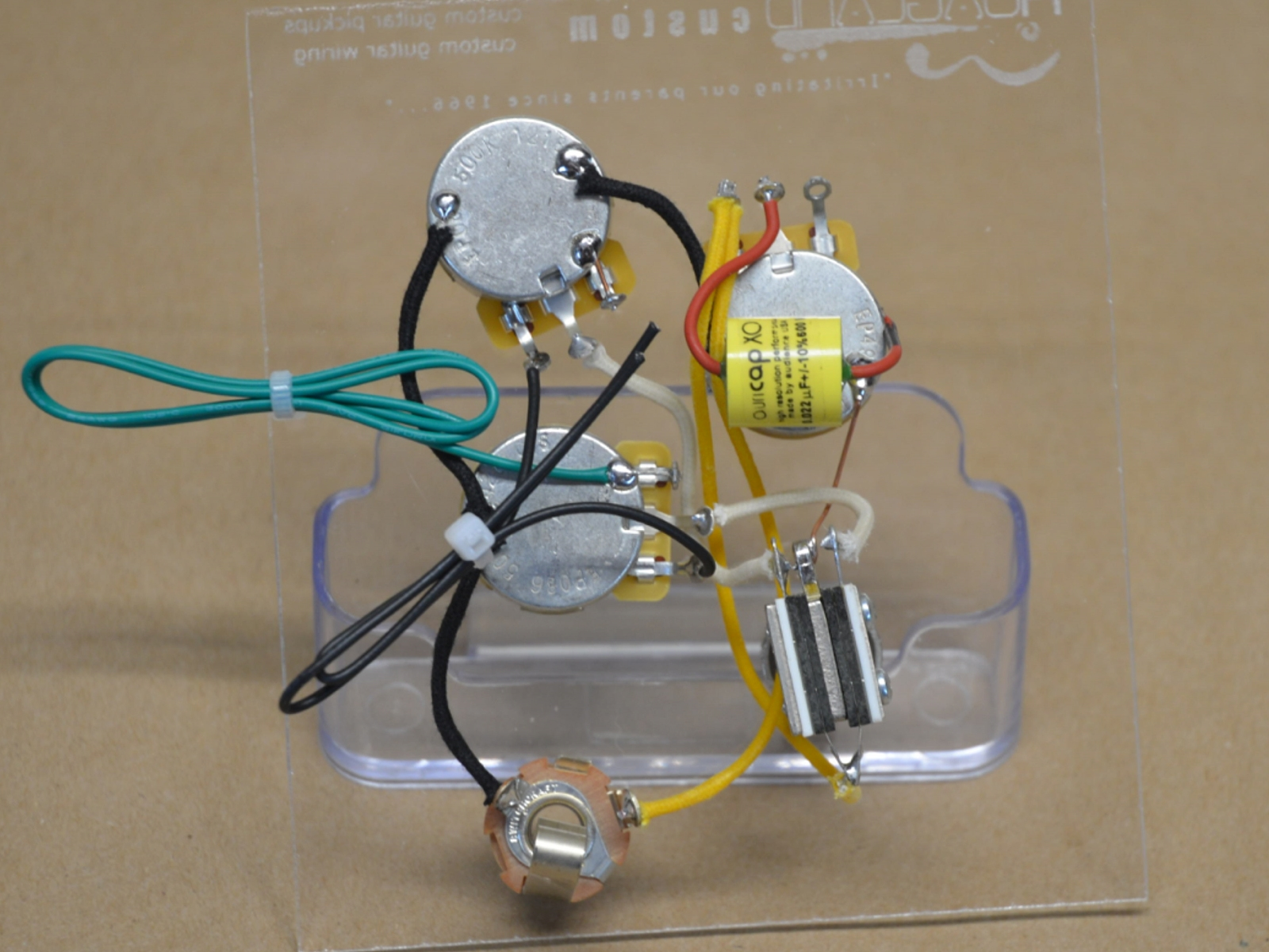 Flying V Wiring Harness Solutions Gibson Ripper Style Handcrafted Hoagland Custom