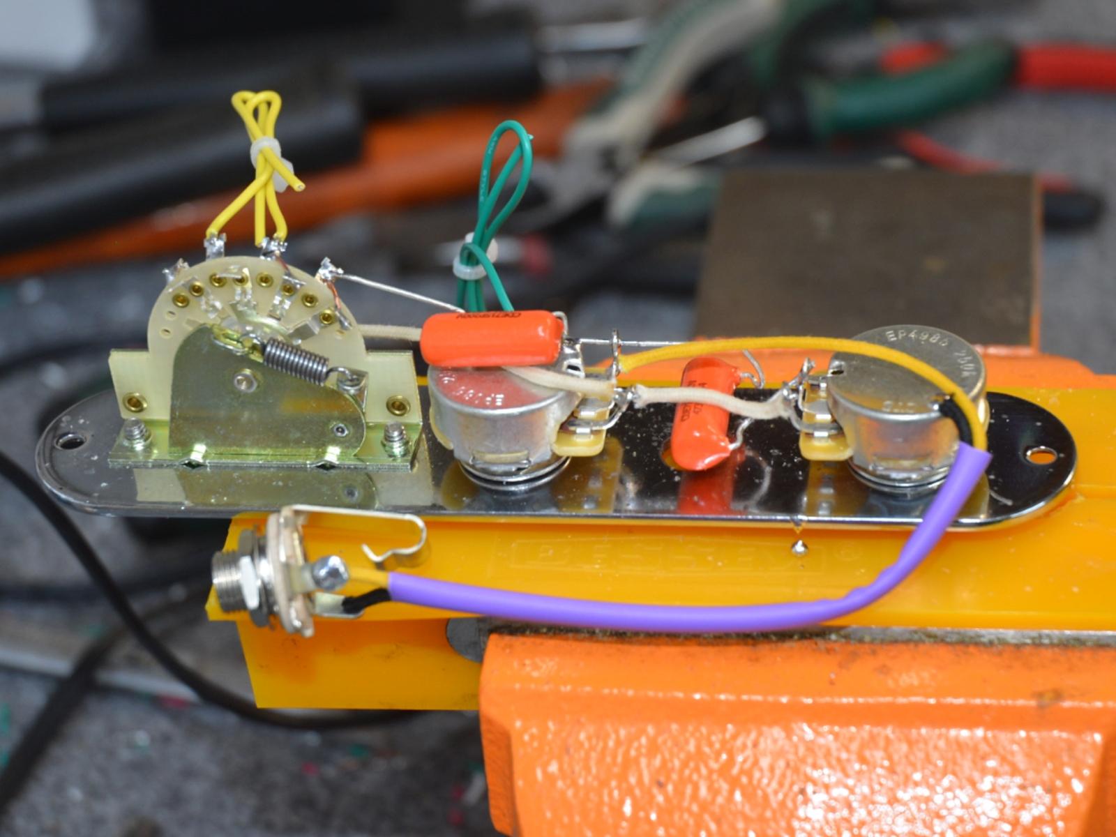 "1953 Telecaster ""Blackguard"" Wiring Harness – Handcrafted by Hoagland  Custom | Hoagland CustomHoagland Custom"