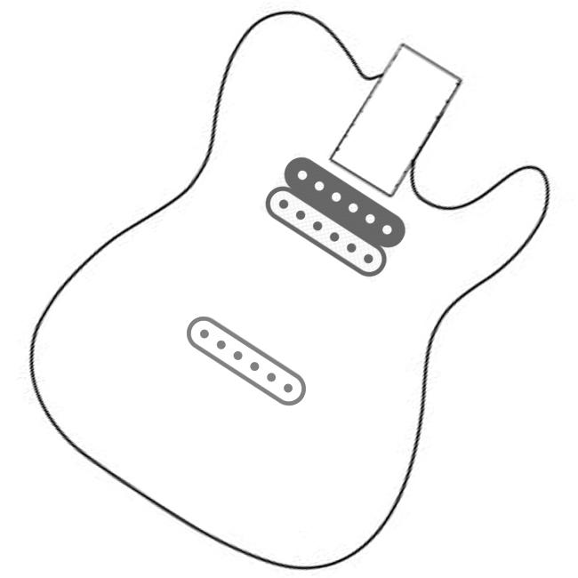 wiring control for guitars pura vida    tele hb neck   sc bridge wiring harness     2 push pulls  tele hb neck   sc bridge wiring harness