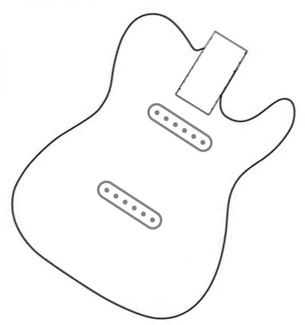 """pura vida"" for standard tele sc neck & bridge wiring harness"